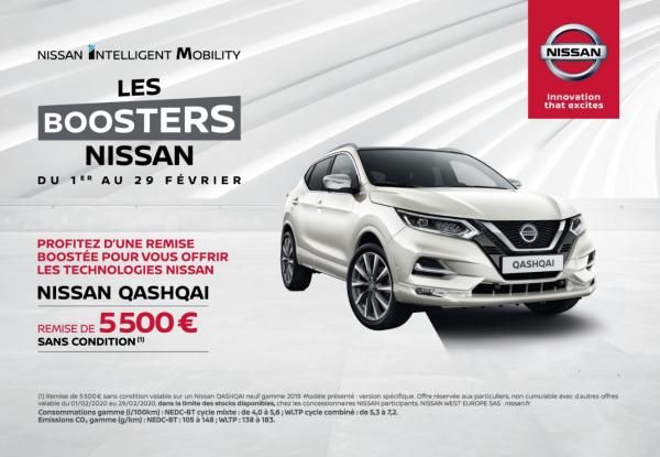 Les boosters Nissan - Nissan QASHQAI 5 500 € de remise