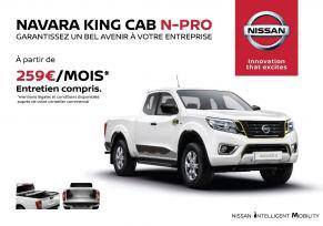 Profitez de l'offre exceptionnelle NAVARA KING CAB N-PRO Edition limitée