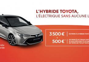 Nouvelle Toyota COROLLA Hybride à partir de 269 € par mois