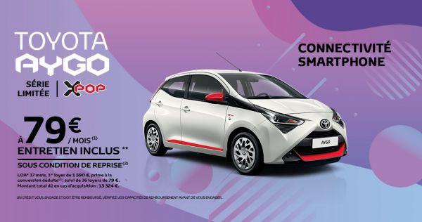 Toyota AYGO à partir de 79 € / mois