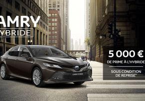 Nouvelle Toyota CAMRY Hybride à partir de 359 € / mois