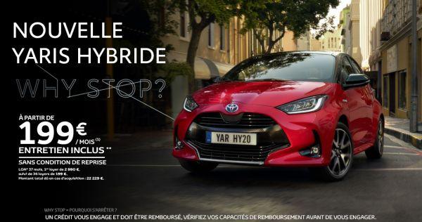 Nouvelle Toyota YARIS Hybride à partir de 199 € par mois