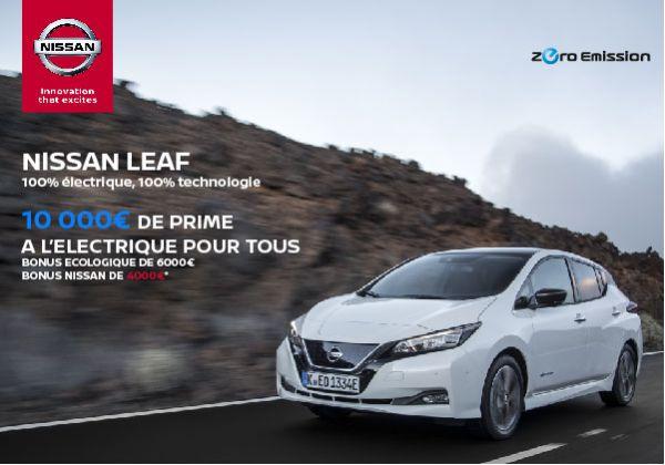 Nissan Leaf : 10 000€ de prime pour tous