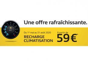 Recharge climatisation à partir de 59€*
