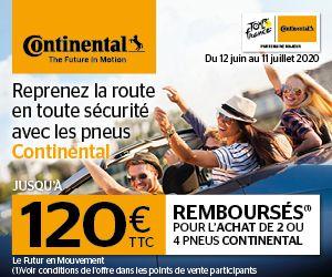 120 € remboursés pour l'achat de pneus Continental
