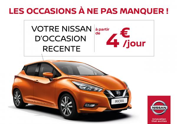 Votre Nissan d'occasion à partir de 4€/jour