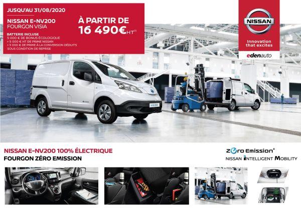Nissan e-NV200 100% électrique, votre partenaire business !