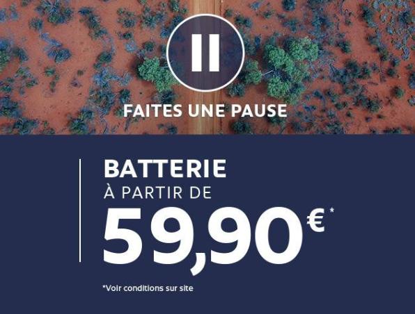 OFFRE PEUGEOT : LA BATTERIE DE VOTRE VÉHICULE à partir de 59,90€*