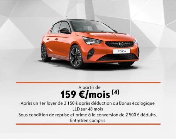 Nouvelle Corsa-e : à partir de 159€/mois