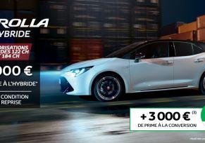 Nouvelle Toyota COROLLA Hybride à partir de 259 € par mois