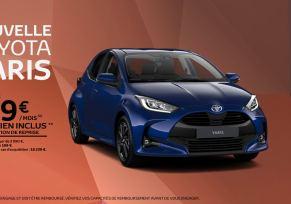 Nouvelle Toyota Yaris Essence à partir de 169 € par mois