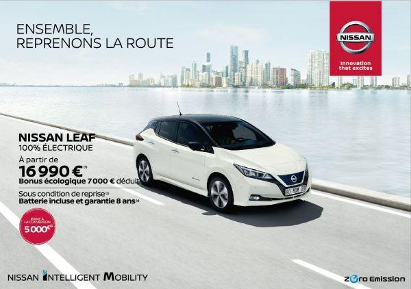 Nissan Leaf à partir de 16990€
