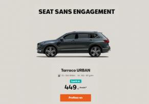 SEAT TARRACO URBAN A PARTIR DE 449€/ MOIS*