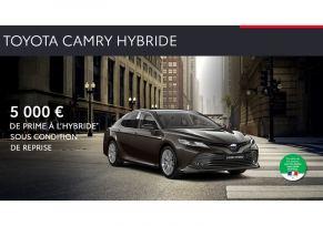 Nouvelle Toyota CAMRY Hybride à partir de 389 € / mois
