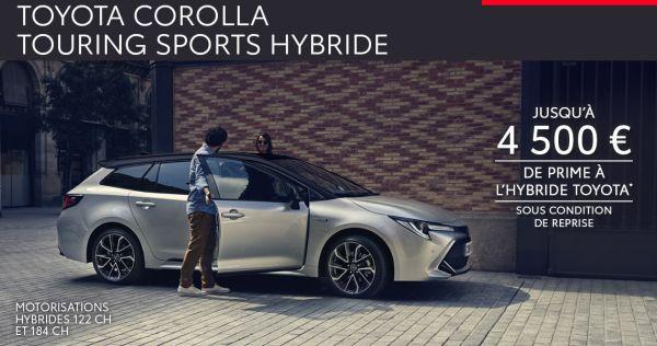 Nouvelle Toyota COROLLA TOURING SPORTS Hybride à partir de 279 € par mois