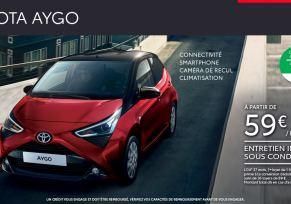 Toyota AYGO à partir de 59 € / mois