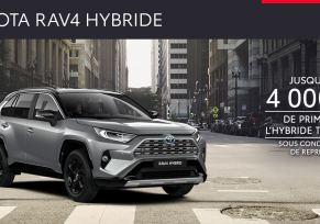 Nouveau Toyota RAV4 Hybride à partir de 369 € /mois
