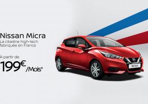 Nissan Micra à partir de 199€/mois