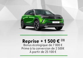 Mokka-e : reprise + 1 500  €