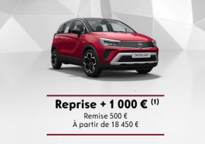 Nouveau Crossland : reprise + 1 000  €