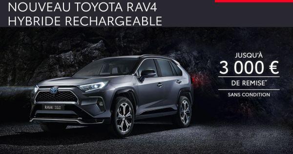 Nouveau Toyota RAV4 Hybride Rechargeable à partir de 539 € par mois