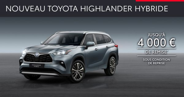 Nouveau Toyota HIGHLANDER HYBRIDE à partir de 739 € par mois