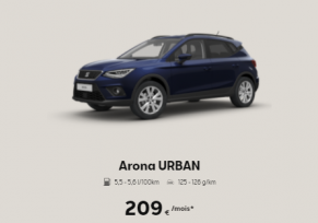 SEAT ARONA URBAN A 219€/ MOIS*