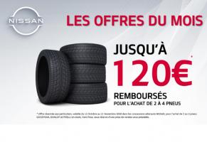 OFFRES PNEUS & APRÈS-VENTE : Les meilleures marques jusqu'à 120€ remboursés !