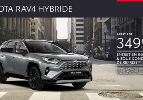 Nouveau Toyota RAV4 Hybride à partir de 349 € /mois
