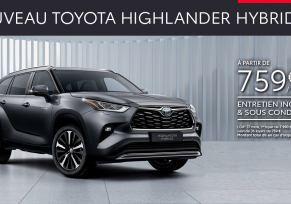 Nouveau Toyota HIGHLANDER HYBRIDE à partir de 759 € par mois
