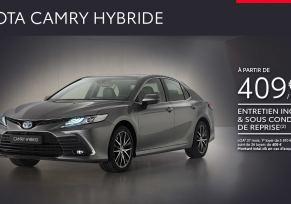 Nouvelle Toyota CAMRY Hybride à partir de 409 € / mois