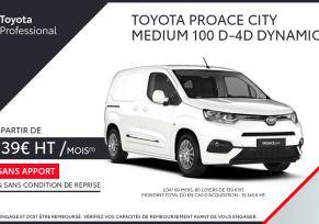 Nouveau TOYOTA PROACE CITY à partir de 139 € par mois
