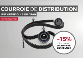 -15% sur votre courroie de distribution complète