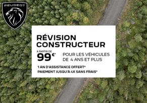 Offre Après-Vente : révision constructeur à partir de 99€
