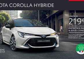 Nouvelle Toyota COROLLA Hybride à partir de 219 € par mois