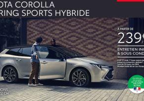 Nouvelle Toyota COROLLA TOURING SPORTS Hybride à partir de 239 € par mois