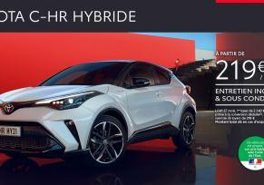 Nouveau Toyota C-HR Hybride à partir de 219 € / mois