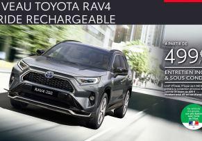 Nouveau Toyota RAV4 Hybride Rechargeable à partir de 499 € par mois