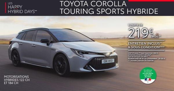 Nouvelle Toyota COROLLA TOURING SPORTS Hybride à partir de 219 € par mois