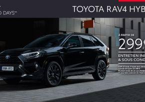 Nouveau Toyota RAV4 Hybride à partir de 299 € /mois