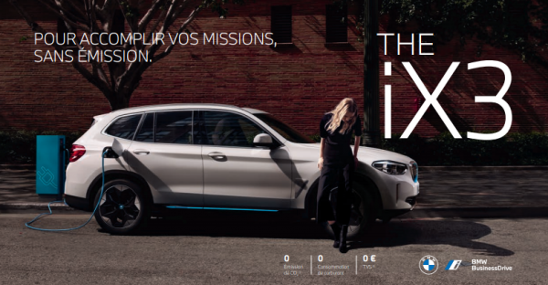 THE iX3. BMW SUV 100% ELECTRIQUE.