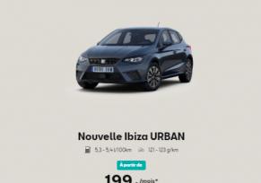 SEAT IBIZA URBAN A partir de 189€/MOIS*