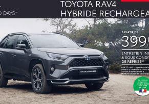 Nouveau Toyota RAV4 Hybride Rechargeable à partir de 399 € par mois