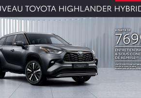 Nouveau Toyota HIGHLANDER HYBRIDE à partir de 769 € par mois