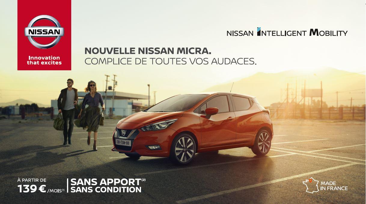 LLD NOUVELLE NISSAN MICRA À PARTIR DE 139€/MOIS