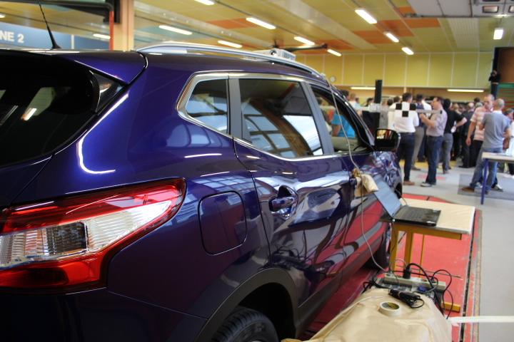 Le Nissan QASHQAI à l'atelier du LP Saint Exupéry de Limoges
