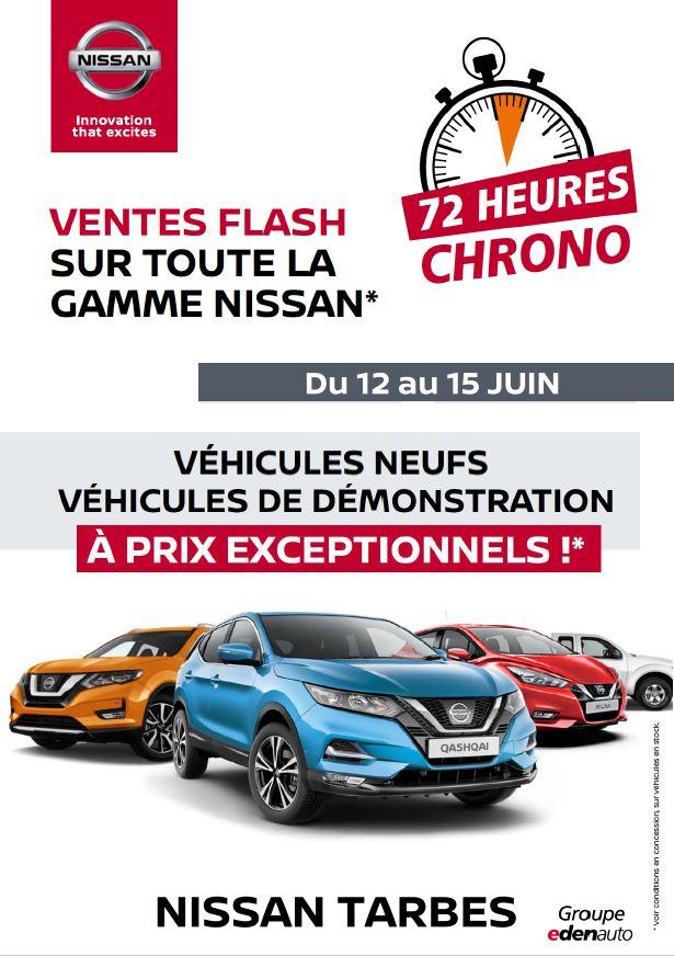 VENTES FLASHDU 12AU 15JUIN gamme CROSSOVERS Nissan