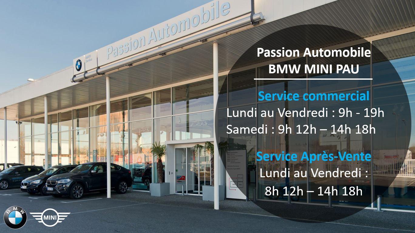 Votre concession BMW MINI PAU est désormais ouverte toute la journée!