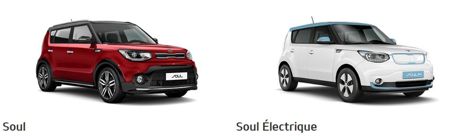 Les Crossover Kia Soul et Kia Soul Electrique