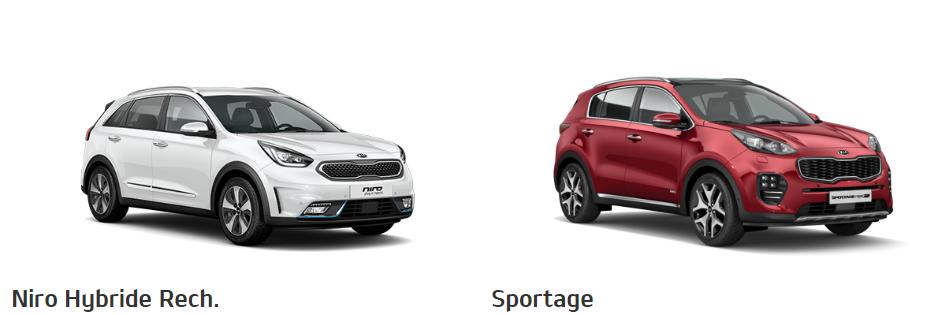 Corssover Kia Niro Hybride Rech et Kia Sportage